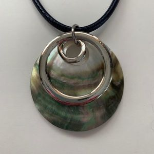 Abalone Shell Corded Adjustable Necklace